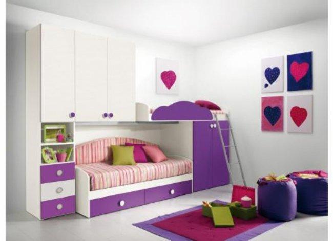 Двухъярусные кровати или как не загромождать детскую